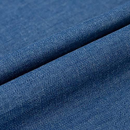 150 Cm Breit 100% Baumwolle Jeansstoff Leichte Jeansjacke Jeansrock Jeans Freizeitkleidung Patchwork Stoff Kissen Wohnkultur Blau Schwarz Geeignet Zum Nähen DIY, Verkauft Von 0,5 M(Color:In Blau)