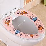 Gosunfly Netter Toilettenschrank, Gepolstertes Toilettensitzkissen, Karikaturtoilettensitz, Wasserdichte Toilette, Süße Toilettenaufkleber.