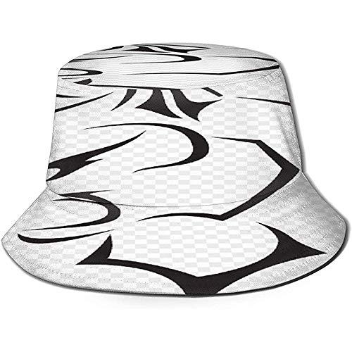 Leopard Animal PNG Sombreros de Pescador Sombrero de Sol portátil Plegable Sombrero de Cubo Empacable Sombrero de Pesca Transpirable a Prueba de Rayos UV y Sol