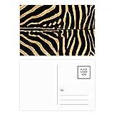 DIYthinker Gracias cebra pluma del diseño del extracto tarjetas postales conjunto de la tarjeta de cumpleaños de correo lateral 20Pcs 5,7 pulgadas x 3,8 pulgadas Multicolor