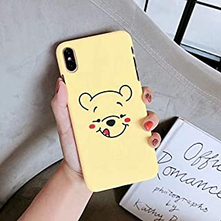Gentra Cute Funny Winnie Pooh Piglet Phone Cases for iPhone Xs Max XR 7plus 8 Plus X Hard Back Cover for iPhone 8 Cartoon Case (Style2, for iPhone X XS)