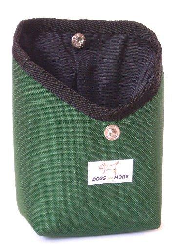 DOGS and MORE - TaschenTasche (Leckerlitasche/Leckerlibeutel/Futtertasche für die Jackentasche) in Grün