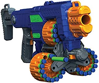 Adventure Force Savage Spin Motorized Triple Drum Blaster Designed with Auto-Advanced Triple Rotating Drums Features 45 Darts That Fly Up to 80 Feet Perfect for Gift