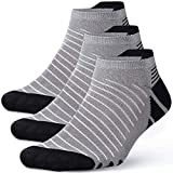 Men Women Running Socks Low Cut Cotton Ankle Socks No Show Unisex Compression Socks Non Slip for Diabetic,Jogging,Travel,Cycling,Edema
