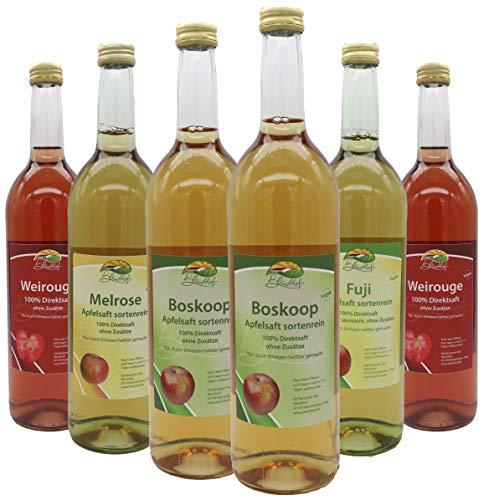 Bleichhof sortenreine Apfelsäfte - 2x Weirouge 0,72L, 2x Boskoop 0,72L, Melrose 0,72L, Fuji 0,72L (6x 0,72L)