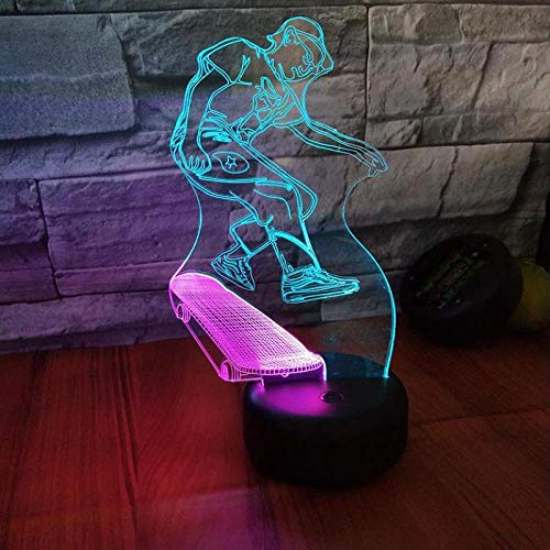 Roller Auto 3D Visuelles Licht 7 Farbe Touch Lade 3D Tischlampen Tischlampe Led Tischlampen Von Lichter