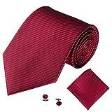 Xmiral Männer Klassische Krawatte Party Taschentuch Krawatte/Einstecktuch / Manschettenknöpfe 3 STÜCKE(L)