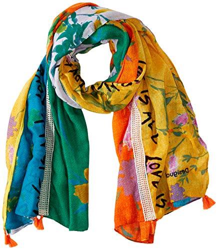 Desigual Damen Foul_Patch Love Schal, (Apricot Orange 7053), One Size (Herstellergröße: U)