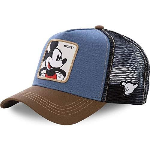Nueva Gorra de béisbol de algodón Snapback de Dibujos Animados para Hombres y Mujeres, Gorra de Camionero con Malla de papá y Hip Hop-Mickey Blue