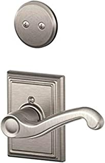 Schlage Lock Company F94FLA619ADDRH Flair Lever Right Handed Dummy Interior Pack with Deadbolt, Satin Nickel