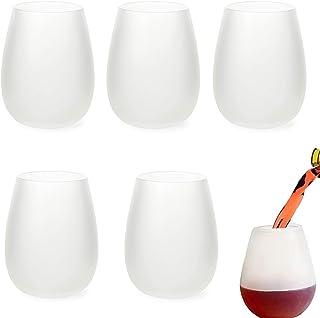 5 Pièces Verre À Vin En Silicone,Verres À Vin En Silicone Incassables Tasse De Voyage Pliable En Silicone Verres À Vin En ...