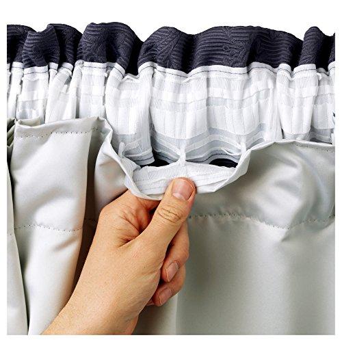 Forro Hachette para cortina opaca con revestimiento térmico de 1,67 x 1,82 m, incluye ganchos de cortina, 3 pasos