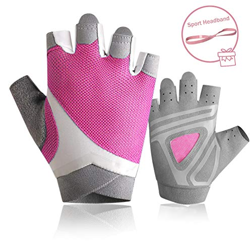 Pink Rowing Gloves for Women Ideal for Indoor Weight Lifting, Workout, Sculling, Kayak, SUP, Outrigger Canoe, Dragon Boat (Kayak Gloves women1)