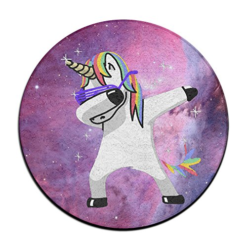 Unicornio Dabbing Antideslizante Alfombrillas Circular