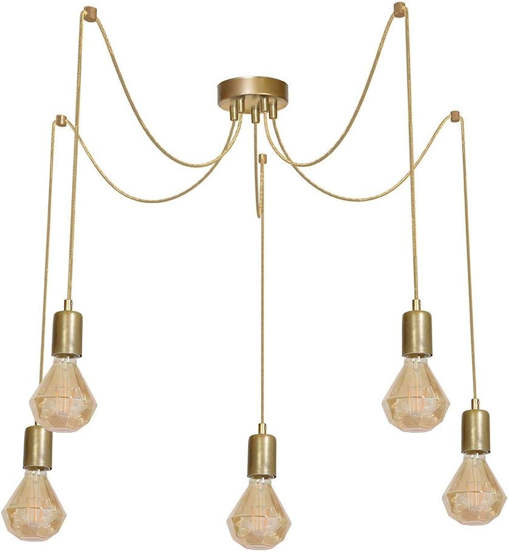 ARACHNE 5xE27 BRASS Deckenleuchte Deckenlampe Hngeleuchte Hngelampe Pendelleuchte