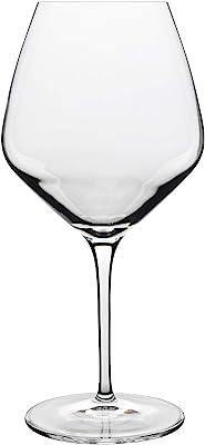 Luigi Bormioli Prestige Pinot Noir 610ml, Durable Wine Glass, Lead Free Crystal Wine Tumbler, Italian aerating Wine Glasses (Colour: Clear), Quantity: 1 Set, 4 Pieces