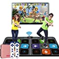 All new Wireless Dance Mat Double Home Somatosensory Game Machine Play Mat 30mm For Weight Loss, Fitness, Yoga, Dance, Sports - TV-AV / Computer-USB Interface - Unlimited Update Super clear picture qu by Mats