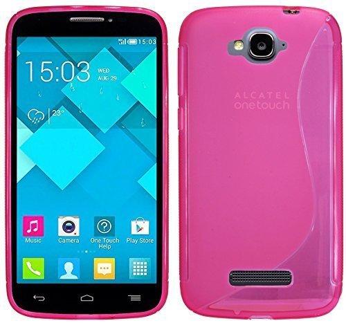 ENERGMiX Silikon Hülle kompatibel mit Alcatel One Touch Pop C7 (7041D) Schutzhülle TPU Schale in Pink
