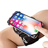 Cell Phone Running Armband Holder for iPhone,Galaxy,Google Pixel,LG.All 4~7 Inchs Smart Phones,360 Rotatable, Workout Universal Adjustable Arm Band, Strap/Pocket for Women Men Jogging Gym Riding