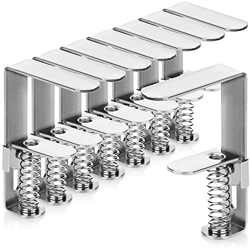 com-four 8X Pinzas para manteles con Muelle - Pinzas de Acero para mesas - Pinzas para manteles para Interiores y Exteriores