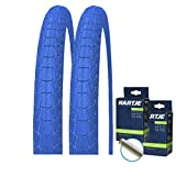 Kenda K907 - Juego de 2 neumáticos para bicicleta BMX (20 x 1,95 + 2 mangueras para válvula), color azul