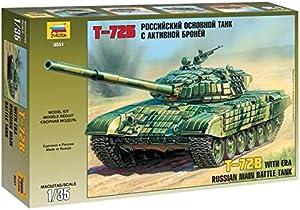 Zvezda 1/35 Zvezda No.3551 Soviet Main Battle Tank T-72B with ERA