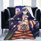 Gypsophila Naruto-Decke, superweich, warm, flauschig, pflegeleicht, für alle Jahreszeiten, mehrfarbig, Größe: 152,4 x 127 cm