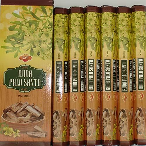 SAC Incienso Ruda Palo Santo 6 paquetes x 20 varillas
