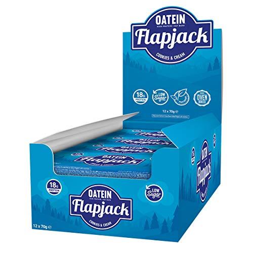 Oatein Low Sugar Protein Flapjack (20 x 70g) (Cookies & Cream)