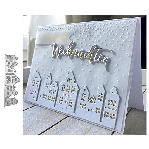 Ponnen Haus Bauen Stanzbögen Stanzschablonen Scrapbooking Stanzmaschine Stanzformen für Scrapbooking Kartenbasteln Album Papier Dekor