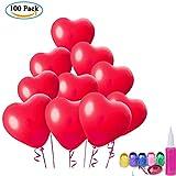 ❀ Attenzione: il colore della pompa a palloncino sarà spedito casualmente a voi !!! ❀Materiale: palloncini Latex ecologici di alta qualità; Peso totale: 286.33g ❀ Cantidad abundante: cada paquete contiene 100 globos en color rojo, suficiente para una...