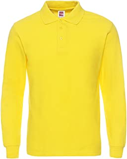 Men's Long Sleeve Casual Solid Golf Polo Shirt