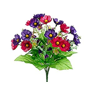 13″ Anemone/Pansy Bush x7 Mixed (pack of 24)
