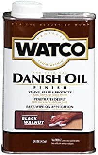 Watco 65341 Danish Oil Wood Finish, Quart, Black Walnut