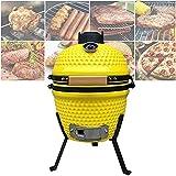 ZJJZ Smoker BBQ Grill für Holzkohle- und Kugelgrills, Outdoor Kitchen Style Egg Ceramic BBQ Grill für Picknick Garten Terrasse Camping Reisen, Geeignet für 3-5 Personen, 13'