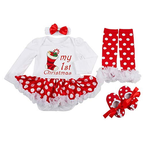 Slowera Baby Girls Christmas Outfits Clothes (3-6 Months, Christmas Stocking)