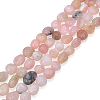1 Strand Top Quality Natural Pink Opal Gemstone 8-11mm Free Form Oval Pebbly Stone Beads 15 inch for Jewelry Craft Making ...