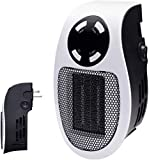 Brightown 350W Space Heater, Programmable Wall Outlet Space Heater As Seen on TV with Adjustable Thermostat & Timer & LED Display for Office Dorm Room (Kitchen)
