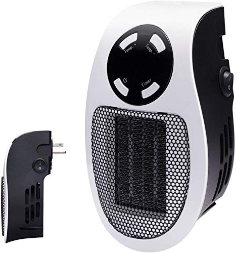 Brightown 350W Space Heater, Programmable Wall Outlet Space Heater As Seen on TV with...