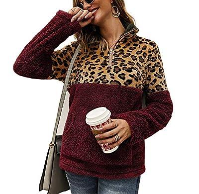 keepmore Damen Leopardenmuster Winterpullover