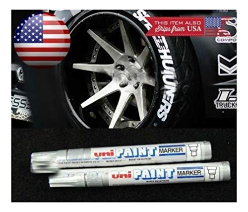 2X Silver Waterproof Oil Based Pen Paint Marker for Honda Tire Wheel Rubber