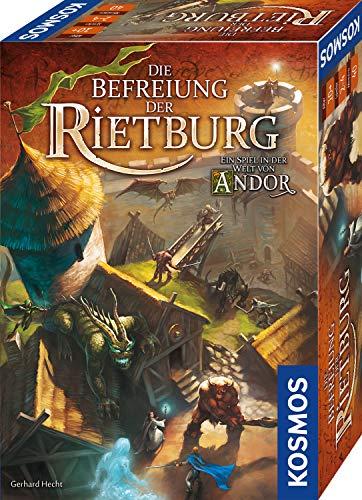 KOSMOS 695064 - Die Befreiung der Rietburg, Ein Spiel in der Welt von Andor, Brettspiel für 2 bis 4 Spieler ab 10 Jahren, Fantasy-Spiel