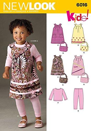 New Look 6016 - Patrón de Costura para Ropa de bebé (Tallas 28-32)