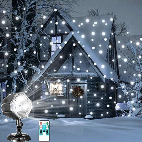 Proiettore Fiocchi di Neve, Faretti LED Illuminazione Luci Natale Esterno, Proiettori Luce Natalizie, Decorazione della Parete