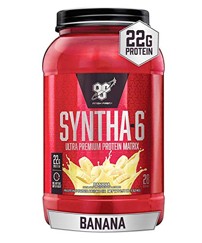 BSN SYNTHA-6 Whey Protein Powder, Micellar Casein, Milk Protein Isolate, Banana, 28 Servings (Packaging May Vary), 2.91 Pound (Pack of 1)