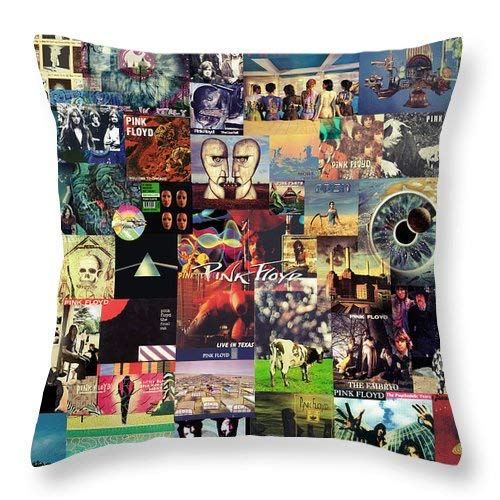 Lplpol Pink Floyd Collage II Throw Pillow Covers Cotton Linen Square Decorative Throw Cushion Cover 16 x 16