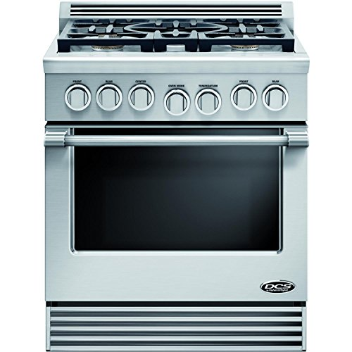 DCS RDV305N Professional 30' Stainless Steel Dual Fuel Slide-In Sealed Burner Range - Convection