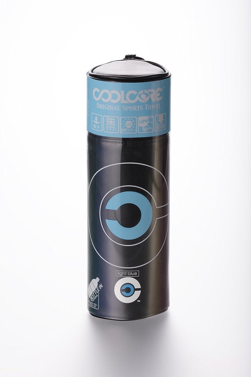 免疫感じ利益COOLCORE スポーツタオル ライトブルー 1枚(20×100cm)