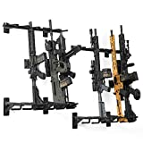 Savior Equipment Wall-Mount Rifle Rack Tactical Shotgun Carbine Firearm Free-Standing Gun Display Indoor Storage Rack - Heavy Duty Steel, 6-Slot Holds up to 150 Lbs (2-Pack)