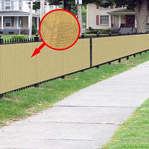 LSM Velas de Sombra Valla Exterior Cubierta de Sombra 80% Protección UV Vela de Sol Vela - Patio Trasero Jardín Pérgola de Tela con Ojales Metálicos para Cubierta Vegetal (Beige) (Size : 2×2m)